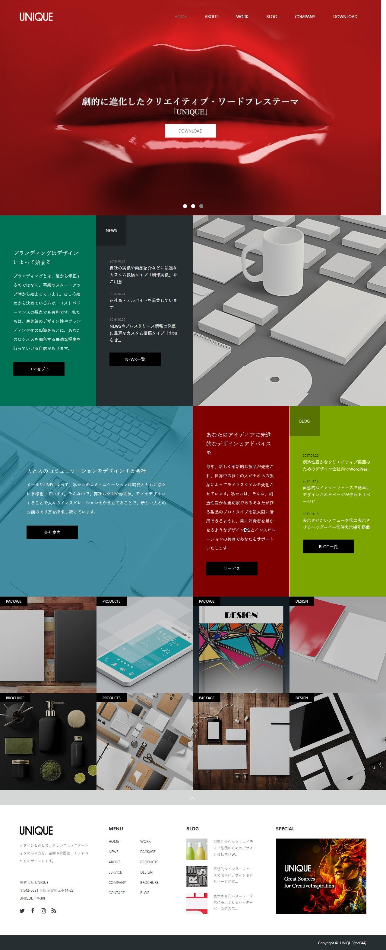 TCD UNIQUE TCD044 wordpress theme full size